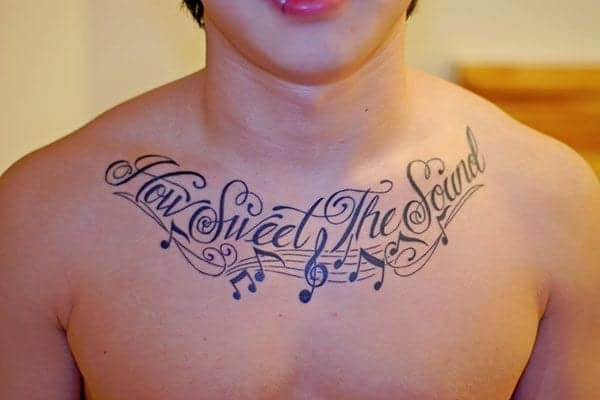Exclusive Music Chest Tattoos for Absolutely All Performers