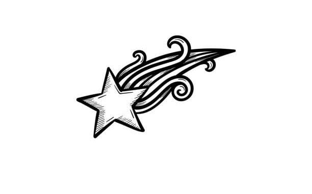 Shooting Stars Tattoo Designs